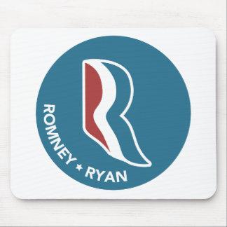 Romney Ryan R Logo Round (Blue) Mousepads