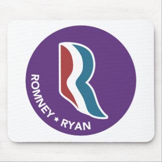 Romney Ryan R Logo Round (Purple) Mousepads