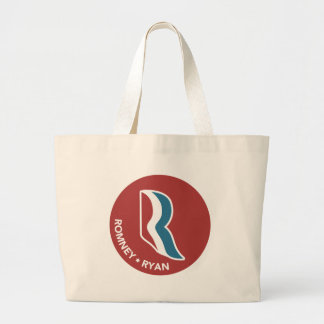 Romney Ryan R Logo Round (Red) Canvas Bags