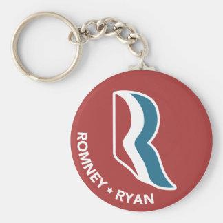 Romney Ryan R Logo Round (Red) Basic Round Button Keychain