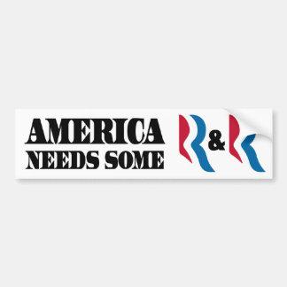 Romney - Ryan - R R Pegatina De Parachoque