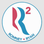 Romney Ryan R Squared Classic Round Sticker