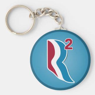 Romney Ryan R Squared Logo Round (Blue) Basic Round Button Keychain