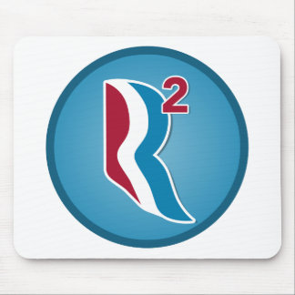 Romney Ryan R Squared Logo Round (Blue) Mouse Pad