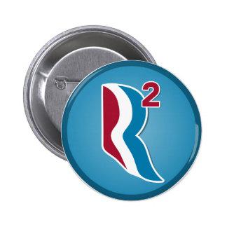 Romney Ryan R Squared Logo Round (Blue) Pinback Button