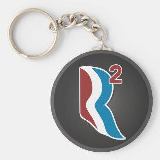 Romney Ryan R Squared Logo Round (Grey) Keychain