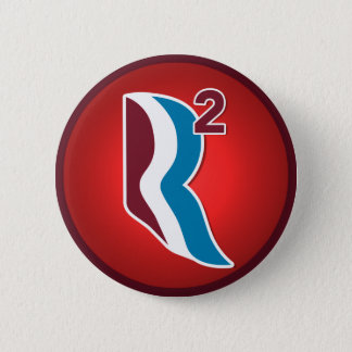 Romney Ryan R Squared Logo Round (Red) Button
