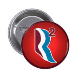 Romney Ryan R Squared Logo Round (Red) Buttons