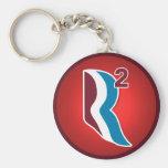 Romney Ryan R Squared Logo Round (Red) Key Chain