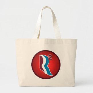 Romney Ryan R Squared Logo Round (Red) Large Tote Bag
