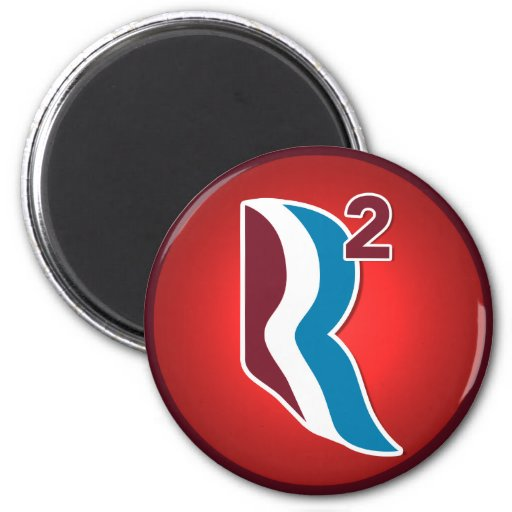 Romney Ryan R Squared Logo Round (Red) Refrigerator Magnet