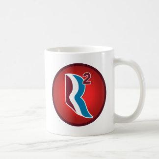 Romney Ryan R Squared Logo Round (Red) Mugs