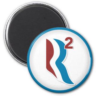 Romney Ryan R Squared Logo Round (White) 2 Inch Round Magnet