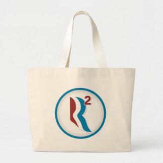 Romney Ryan R Squared Logo Round (White) Bags