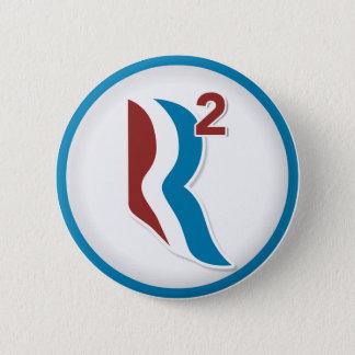 Romney Ryan R Squared Logo Round (White) Button