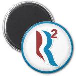 Romney Ryan R Squared Logo Round (White) Fridge Magnet