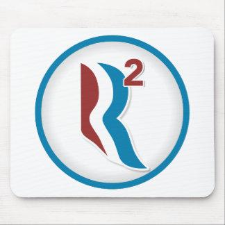 Romney Ryan R Squared Logo Round (White) Mousepads