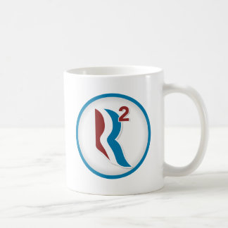 Romney Ryan R Squared Logo Round (White) Coffee Mug