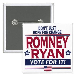 Romney Ryan Real Hope 2012 Pinback Button