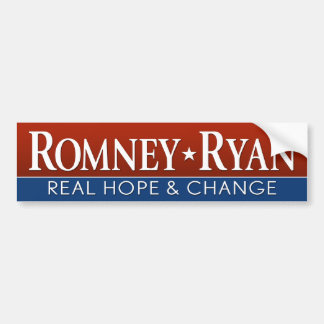 Romney Ryan - Real Hope and Change Bumper Stickers