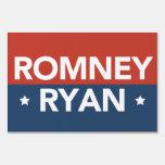 Romney Ryan Red & Blue Yard Sign