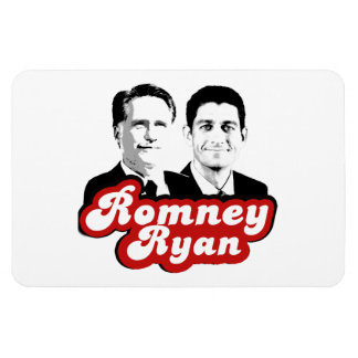 ROMNEY RYAN RED.png RETRO Rectangle Magnet