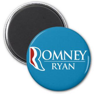 Romney Ryan redondo (azul claro) Imán Redondo 5 Cm