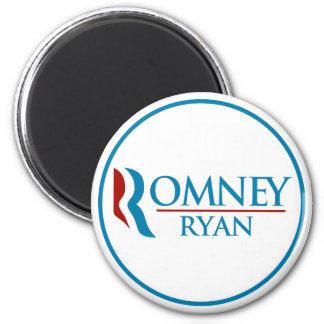 Romney Ryan redondo (blanco) Imán Redondo 5 Cm