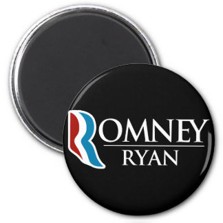 Romney Ryan redondo (negro) Imán Redondo 5 Cm