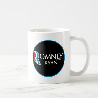 Romney Ryan redondo (negro) Taza Clásica
