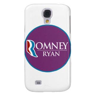 Romney Ryan redondo (púrpura) Carcasa Para Galaxy S4