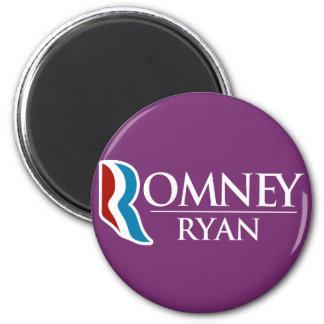 Romney Ryan redondo (púrpura) Imán Redondo 5 Cm