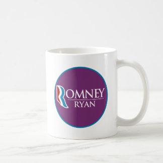 Romney Ryan redondo (púrpura) Taza