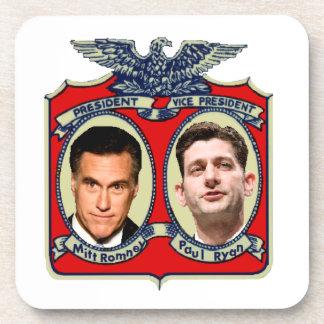 Romney Ryan Retro Beverage Coaster
