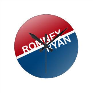 ROMNEY RYAN RETRO BLOCK.png Wall Clock