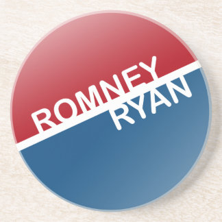 ROMNEY RYAN RETRO BLOCK png Beverage Coasters
