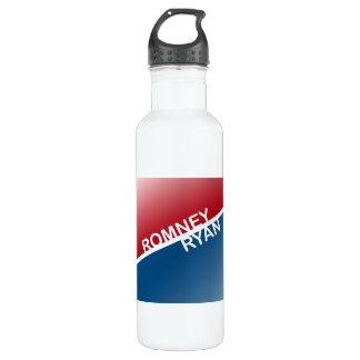 ROMNEY RYAN RETRO BLOCK.png 24oz Water Bottle
