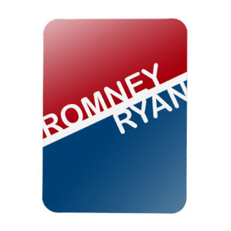 ROMNEY RYAN RETRO BLOCK.png Flexible Magnet