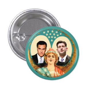 Romney Ryan Retro Buttons