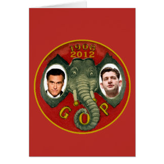 Romney Ryan Retro Card