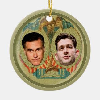 Romney Ryan Retro Ceramic Ornament