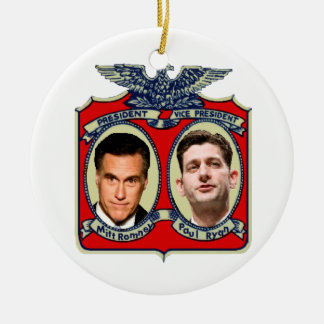 Romney Ryan Retro Ceramic Ornament