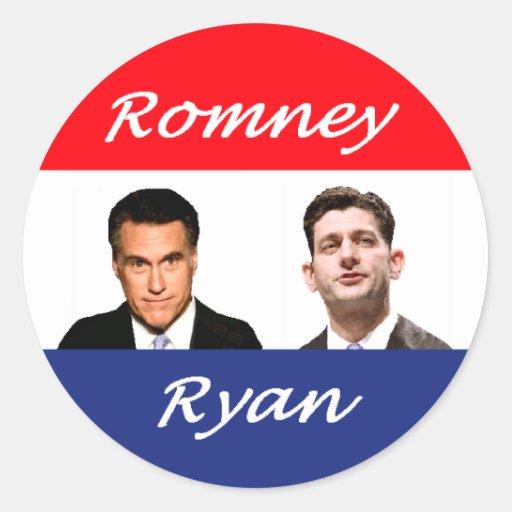Romney Ryan Retro Classic Round Sticker