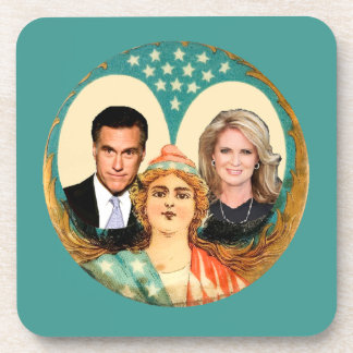 Romney Ryan Retro Drink Coaster