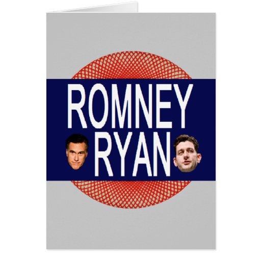 Romney Ryan retro Felicitación
