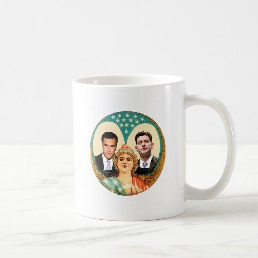 Romney Ryan Retro Coffee Mugs
