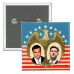 Romney Ryan retro Pin Cuadrada 5 Cm