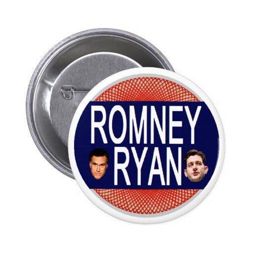 Romney Ryan retro Pin Redondo 5 Cm