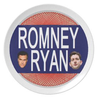 Romney Ryan retro Platos Para Fiestas