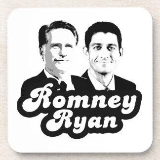 ROMNEY RYAN RETRO png Drink Coasters